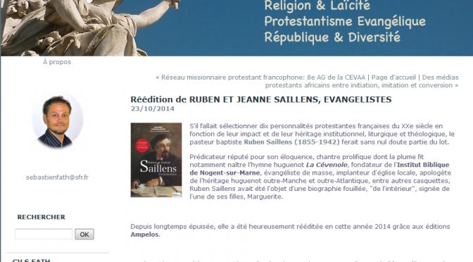 Ruben Saillens : «ample et documenté»