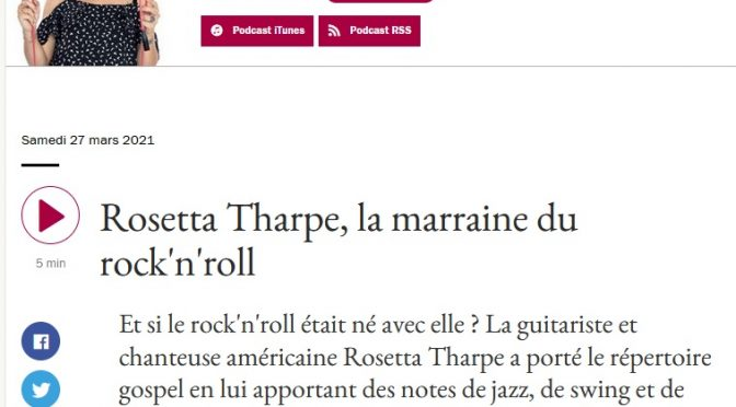 Rosetta sur France Musique