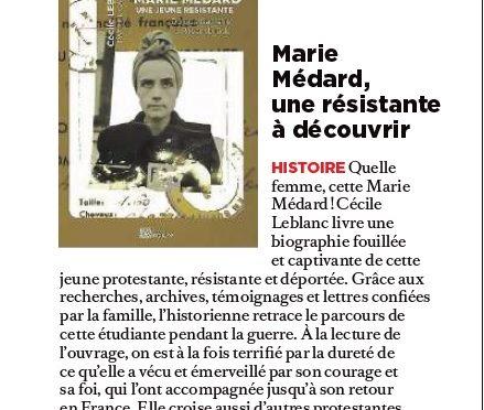 Marie Médard dans Réforme