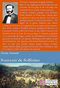 <h4>Souvenir de Solférino,</h4> Henry Dunant