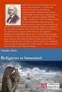 <h4>Religieux et Surnaturel,</H4> par Charles Bois